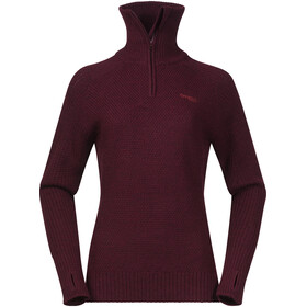 Bergans Ulriken Sweat-shirt Femme, wine mel